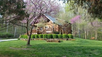 Wise Old Owl Cabin Patoka Lake French Lick Peaceful Relaxing 5 * reviews Hot Tub