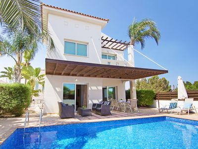 Photo for Aretina Villa - Modern Villa with Private Pool and Amazing Sea Views and just 650 meters from Trinity Beach!  - Free WiFi