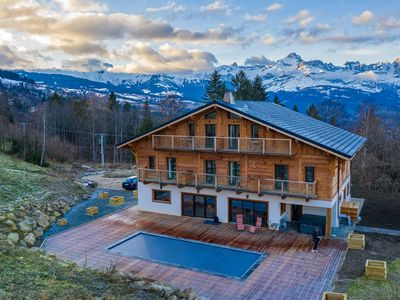 Photo for Chalet Twenty22, superb catered chalet for 14 in St Gervais - view on Mont Blanc