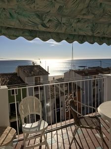 Photo for Very cute little ground floor with large terrace with superb sea view