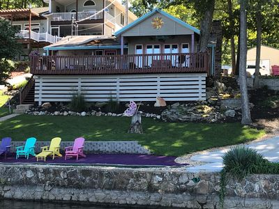 Photo for Sunset Cottage - One Story Home, Sloping Lot And Spacious Lake Views.