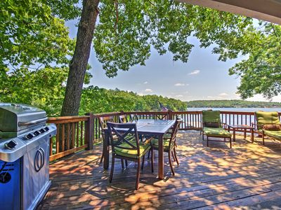 Photo for Lakefront Sunrise Beach House w/ Dock & Fire Pit!