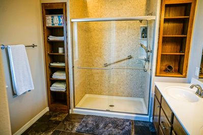 Large Walk-In Shower in the Master Bath.