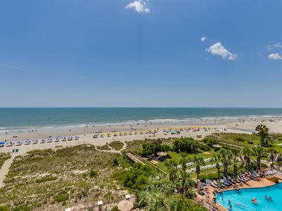 Photo for Large Oceanfront Three Bedroom Two Bath Condo at Carolina Dunes! (5th Floor)