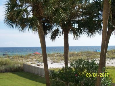 Photo for Comfortable Beach Condo with  Great Gulf View from Balcony.
