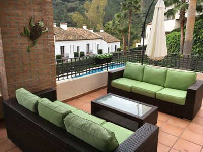 Photo for Luxury two-bed apartment right in Benahavis village