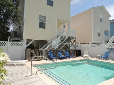 Photo for Drift Away with private heated salt water pool, high chair and playpen