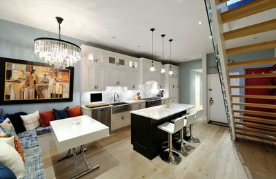 Kitchen with expandable Dining Table