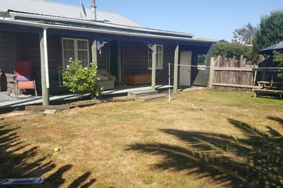 Front verandah and lawn