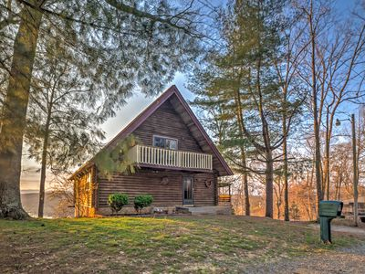 Photo for 'The Roost' Rustic Lakefront Cabin w/ Game Room!