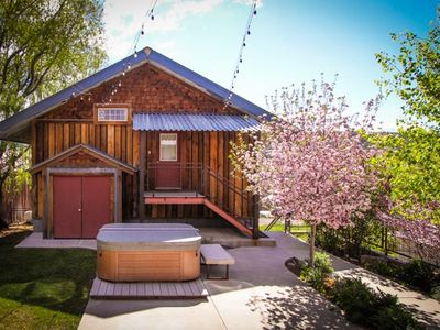 Photo for Incredible Pagosa:  Studio w/ Private Hot Tub, Heated Garage, Walk to Everything