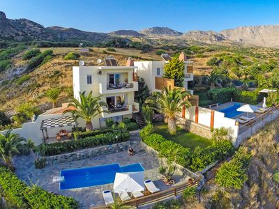Photo for Waterfront villa,Near the beach at South Rethymno, Swimming Pool,Car recommended