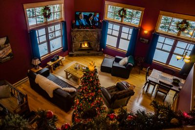 Greatroom  at Christmas