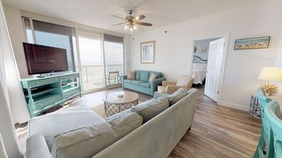Photo for Beautiful corner wrap-around balcony, Gulf-front view, and all the perks! Doral 901