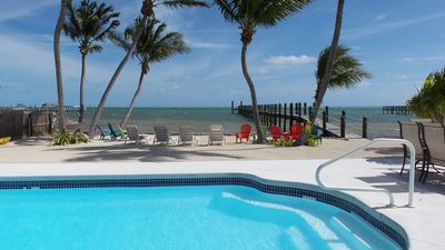 Photo for Gorgeous Oceanfront Home with heated pool, 350' pier, WIFI and more