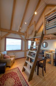 Reading or napping loft above main floor