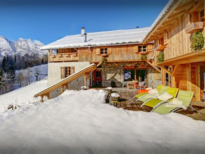 Photo for Pool with a view is all yours at this stunning ski chalet - OVO Network