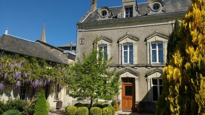 Loire Petite Chateau Spring morning in front courtyard