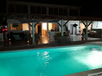 Photo for MARIGOT, villa bottom with private pool, quiet, panoramic view.