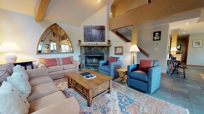 Photo for Spacious Ski Townhome Minutes from Blackcomb w/ Parking + Fireplace
