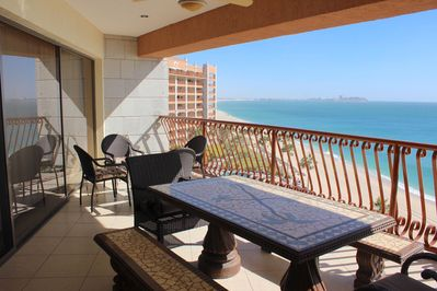 Patio furniture and View