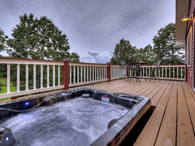 Photo for Beautiful Fall view in the mountains, horses in the pasture, hot tub!