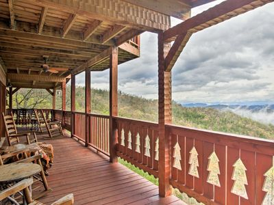 Photo for NEW-Massive Pigeon Forge Cabin w/Hot Tub & 3 Decks