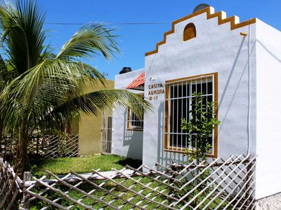 "Photo for Typical mexican ""casita"" few steps from Xcacelito Beach"