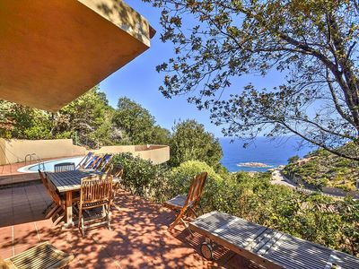 Photo for Villa Avania: A characteristic and welcoming three-story villa situated on a promontory facing the sea.