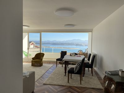Photo for Beautiful terrace apartment overlooking the Santander Bay, near Beaches