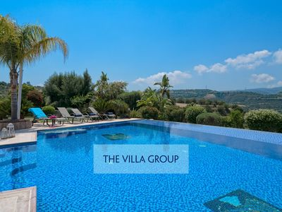 Photo for Skoulli Villa, Sleeps 8 with Pool and Air Con