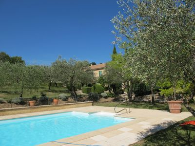 Photo for In a field of olive trees, house for 6-7 people with a large pool