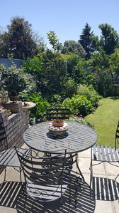 Private Patio with view to Garden