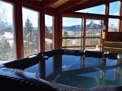 Photo for Private Hot Tub, Mountain/Lake Views, Large Decks, Clubhouse with Pool, Easy Drive to Everything