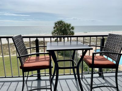 Another shot of the balcony furniture...