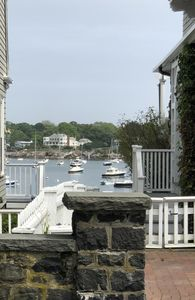 Across the street from Marblehead Harbor