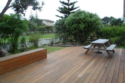 Large Deck leads to Beach