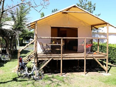 Photo for Flower Camping La Plage *** - Shack Lodge Comfort Plus 3 Rooms 4/6 People