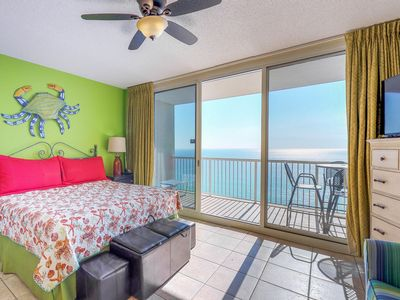 Photo for Oceanfront studio with shared pool, hot tub, tennis, moments from beach & more!