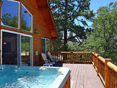 Photo for Autumn Bliss: Luxury Log Cabin! Views! Pool Table! Gas BBQ! Multiple Decks!