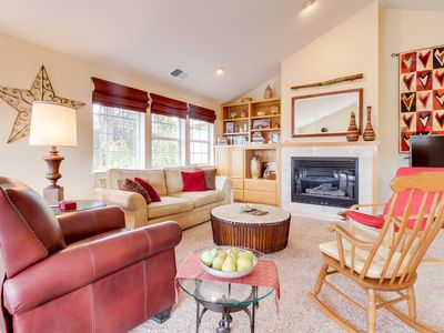 Photo for Oceanview, art-filled retreat w/ balcony - near downtown, trails & beaches!