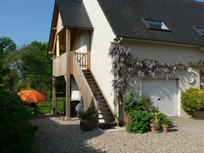 Photo for Between Deauville and Honfleur, bright and cozy gite with large garden