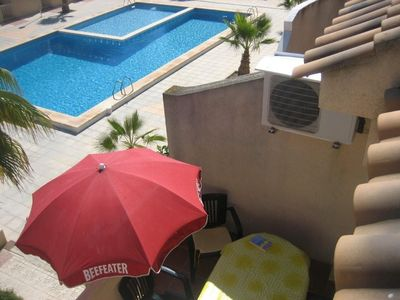 Photo for Bungalow 2 floors, solarium and barbecue, urbanization with swimming pool, next to the sea
