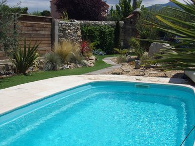 Pool and rear of garden