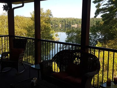 View from the screened porch.