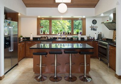 Bar-style kitchen with plenty of counter space