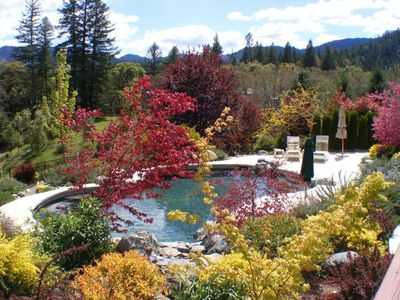 Photo for Bliss Acres, private hot tub, pool, vineyard, scented gardens, child's play room