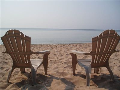 Photo for Beachfront Cottage, on Lake Michigan Spring Special: 3 nights w/ 4th night free