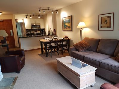 Photo for Aspens suite ski in/ski out access in peak season, large pool and 3 hot tubs