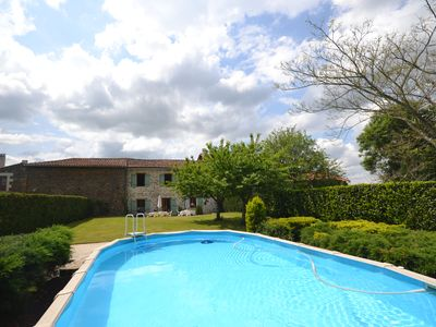 Photo for Beautiful converted French Barn with Private Pool and Garden